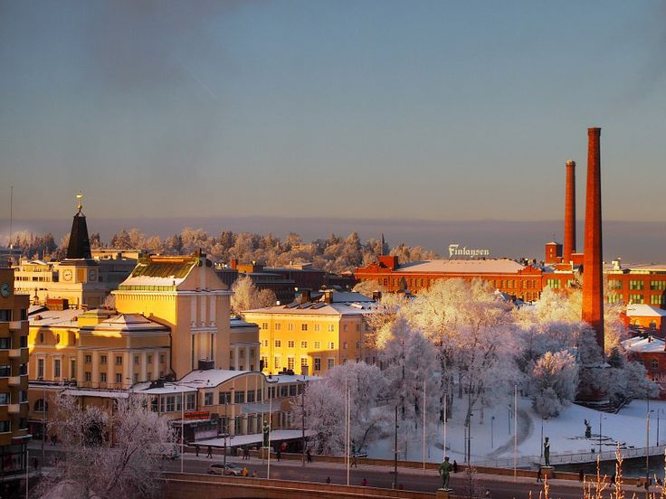 Tampere Finland at winter