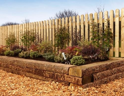 Timber raised flower beds