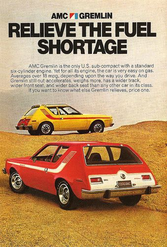 The AMC Gremlin w/o doubt one of the oddest looking care ever...Funky stuff from the 1970s