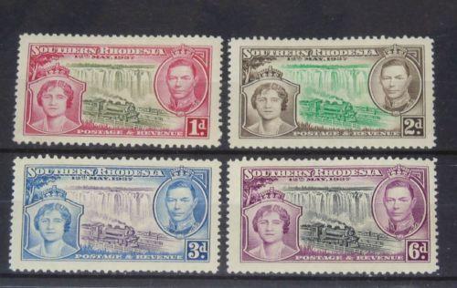 Stamp Pickers Southern Rhodesia 1937 Coronation MNH Set Scott #39-41