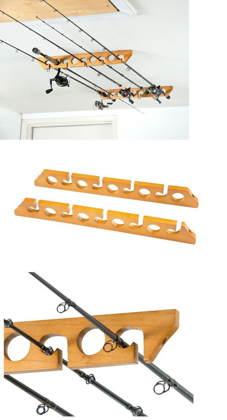 17 best ideas about fishing rod rack on pinterest rod for Wall mount fishing pole holder