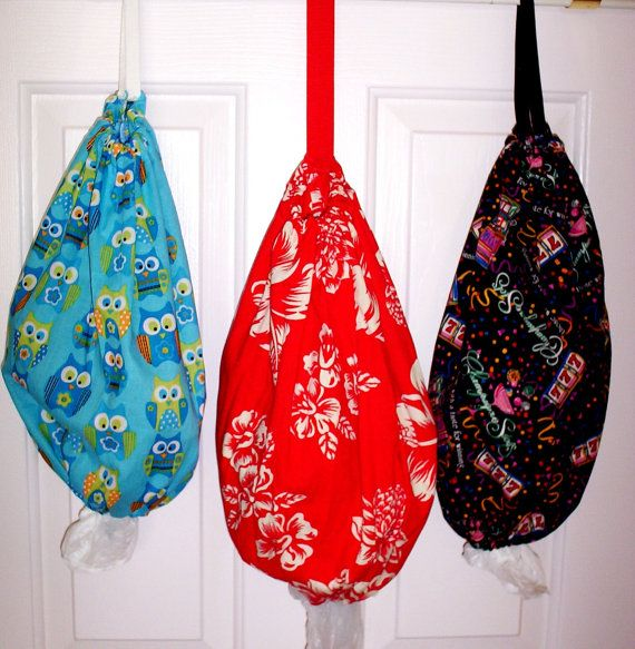 Etsy listing at https://www.etsy.com/listing/399733007/plastic-bag-holder-handmade-plastic-bag dispenser, make getting organized a little easier, stuff all those loose plastic bags in either one of these bag holders.