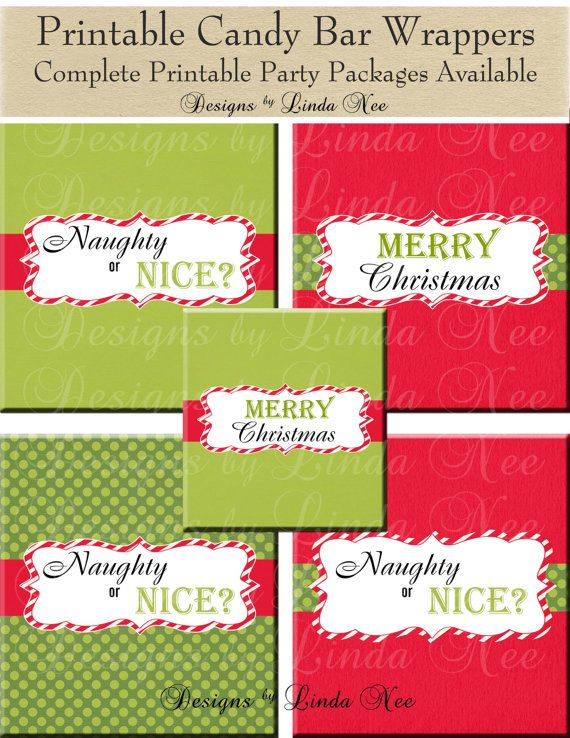 Christmas candy bar wrappers santa christmas large 155 oz hershey bar candy wrappers for Diy candy bar wrapper