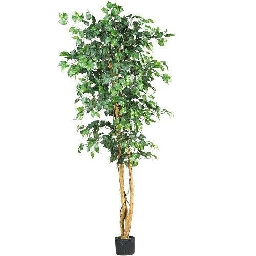 Silk Ficus Tree Artificial Indoor Plant Greenery Decor 6 Foot Potted Lifelike…