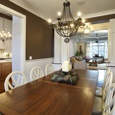 17 best images about built in desk dining room on for Dining room designs with chair rail