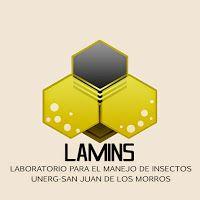 El logo fue diseñado y propuesto para el laboratorio,  es un diseño donde se fusionan caracteristicas de 3 insectos; abeja, tabano y mariquita, cabe destacar que de mayor impresión esta la abeja! ya que el laboratorio cuenta con una gran colección de vario especimenes!