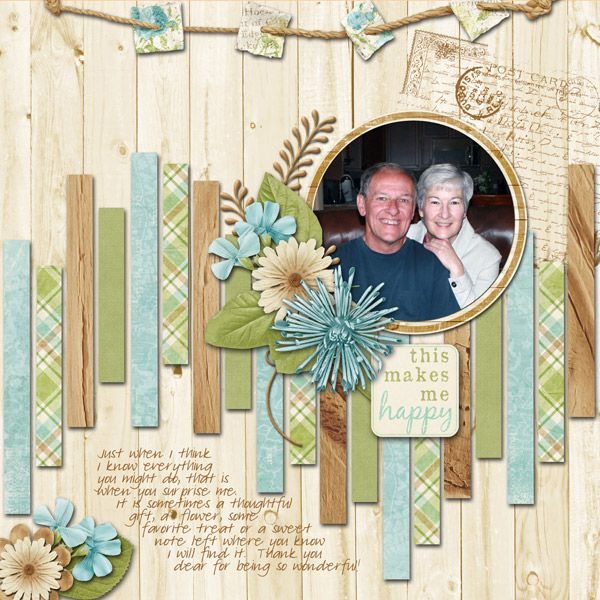 Ideas for Scrapbookers: A Sketch and Template.  Use those scraps!  Can be adapted for a card.