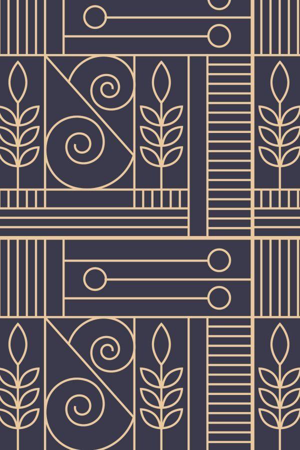 Fall Winter Branding Collection Art Deco Design Graphics Art