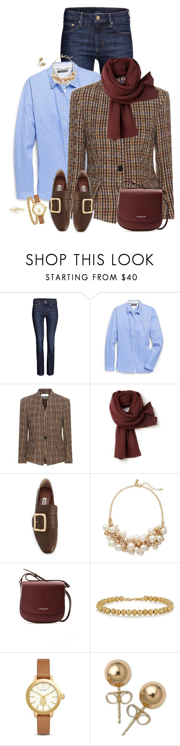 """""""Tweed Jacket (Outfit Only)"""" by fashionaddicta9 ❤ liked on Polyvore featuring H&M, Tommy Hilfiger, Lacoste, Bally, The Limited, Lancaster, Carolina Bucci, Tory Burch, Bling Jewelry and David Yurman"""