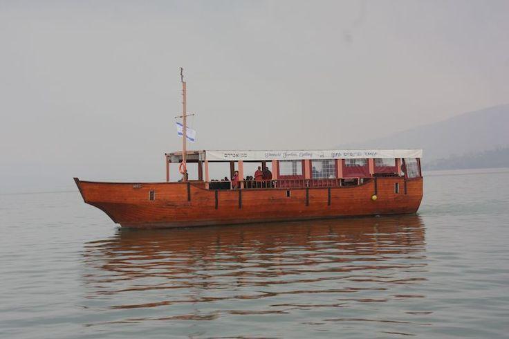 Barco no mar da Galileia