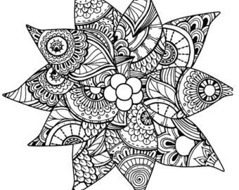 Christmas Coloring Page For Adults Poinsettia Holiday