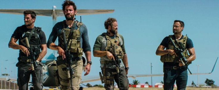 "From ""13 Hours: The Secret Soldiers of Benghazi,"" which stars Pablo Schreiber, from left, John Krasinski, David Denman and Dominic Fumusa. Photo: HONS / Paramount Pictures"