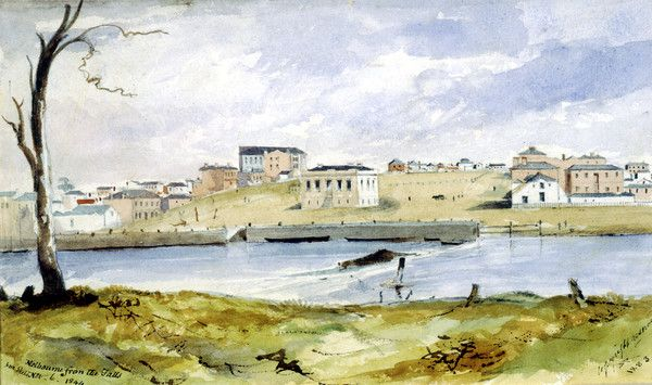 Melbourne from the Falls, 1844