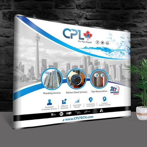 CPL's Trade Show Banner We are a Plumbing and Pipe Lining
