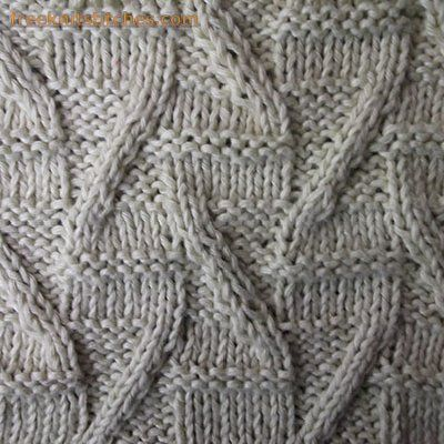 Letters Z knitting stitches