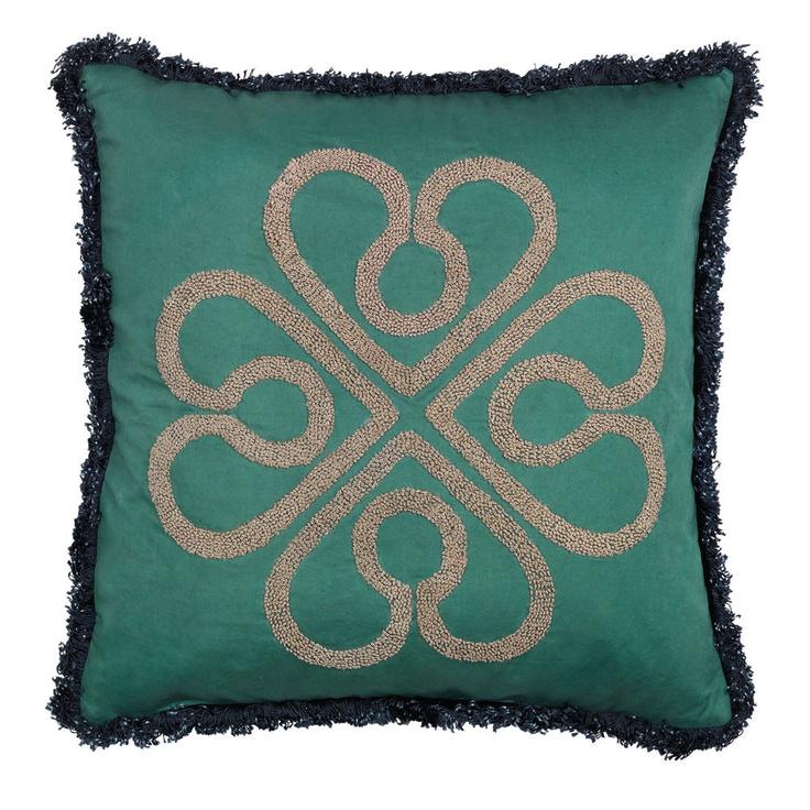 Day Birger Et Mikkelsen - Flower Fringe Cushion Cover - Jade - 50x50cm