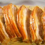 Roast Pork Belly Recipe with Apple & Cider Cream Sauce by Marco Pierre White