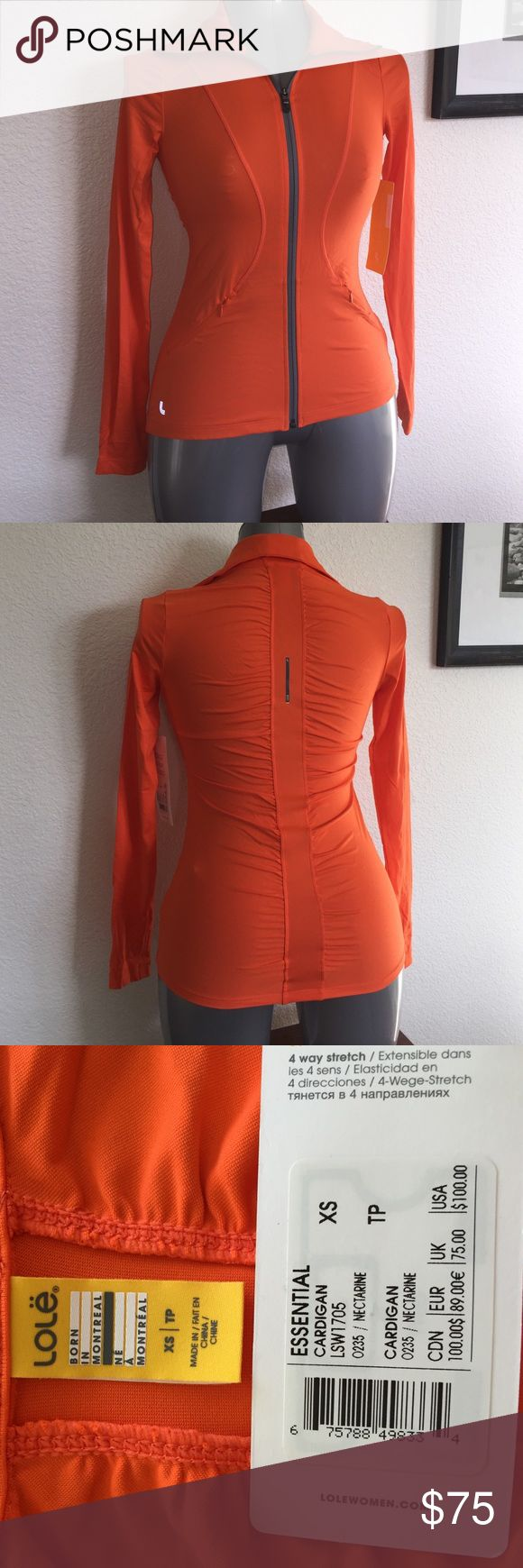 NWT Lole jacket Lole New with Tags! Nice nectarine colored running jacket. Wicks away moisture to keep you comfortable while running!  Nice detail in back as well! # 6099 Lole Tops