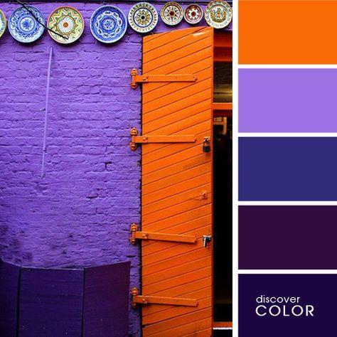 Оранжевая дверь | http://DiscoverColor.ru