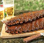 Apple-Bacon Barbecued Ribs (Gas Grill Version)