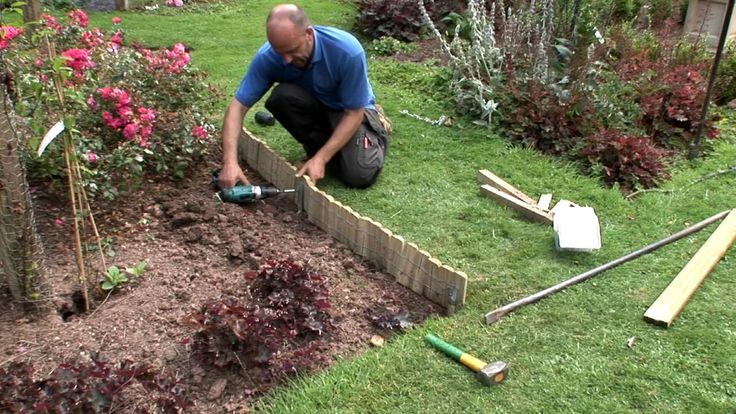 How to install log roll edging