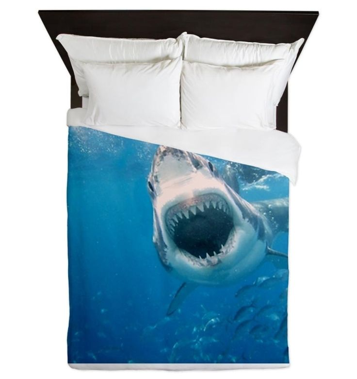 Superior I Think I Would Be Too Scared To Sleep With This Shark Queen Duvet! Pictures