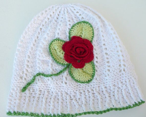 Girls Hand Made Crocheted Sun Hat,White,Panama,Summer,Beach Hat.100% Cotton.Ready To Post.