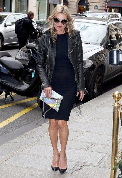 Kate Moss  Stella McCartney leaves the Four Seasons Hotel with two of her children and husband Alasdhair Willis. McCartney then meets up with Kate Moss and the pair do a little shopping together while in town for Paris Fashion Week.   (October 1, 2012 - Source: Eliot Press/Bauer Griffin)