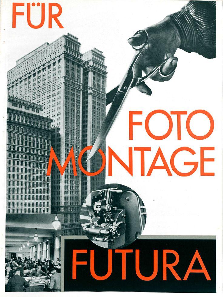 """Beilage """"Für Fotomontage – Futura"""" S. 1 Gebrauchsgraphik, Jhg. 6, Heft 3 (März), 1929, S. 49–52"""