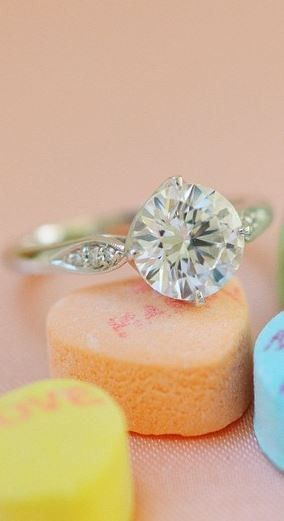 The intricate detail of this diamond engagement ring is stunning.
