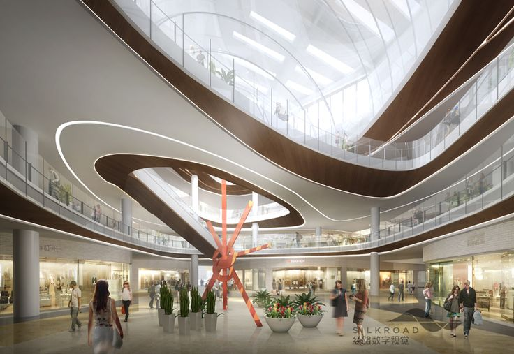 Silkroad rendering for shopping mall interior with beautiful illumination | City Lighting Products | www.facebook.com/CityLightingProducts