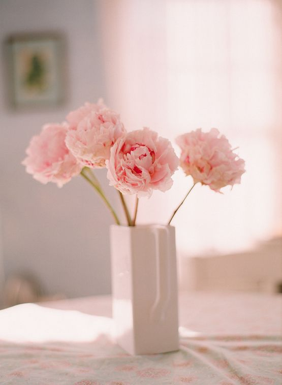 Floral peony real centerpieces flowers modern