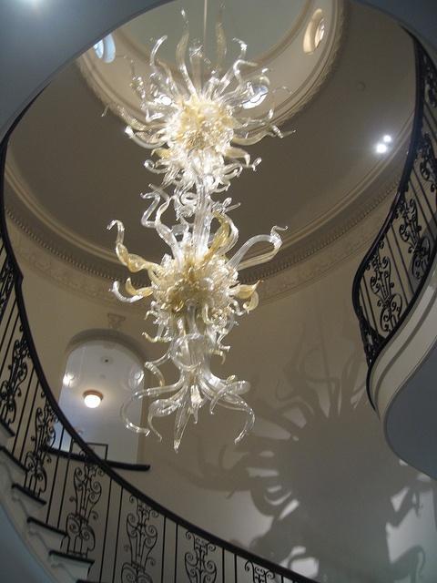 Cheekwood Mansion (Nashville)   Art Museum And Botanical Gardens   Giant  White Glass Chandelier