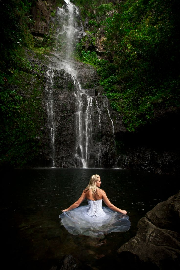 pretty much the only reason i would get married to trash the dress waterfall photowedding