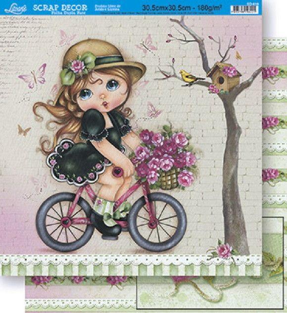 Papel Scrapbook Duplo Litoarte SD419