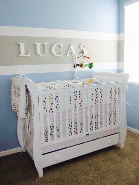 Baby boy nursery. Super cute
