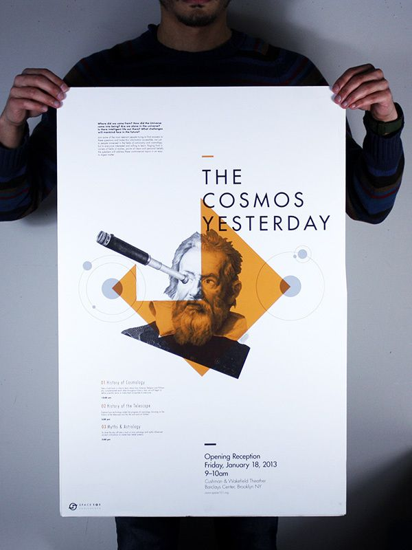 Space 101 Conference on Behance in Posters I Enjoy