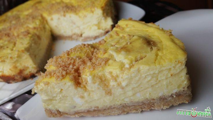 Túrógombócos sajttorta