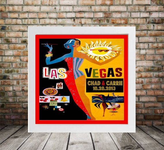 Personalized Las Vegas Wedding Print  FRAMED ART by DefineDesign11, $45.00