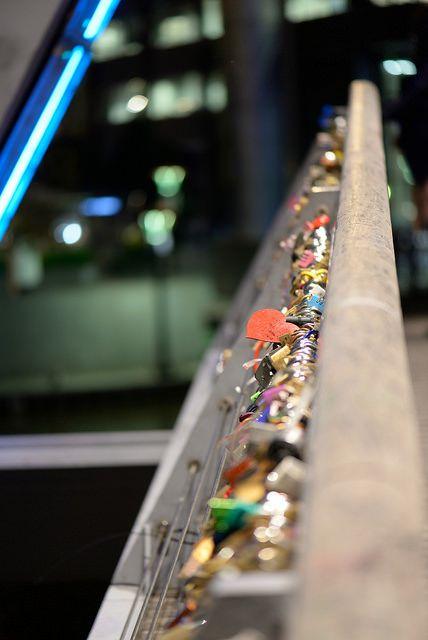 """Melbourne's """"Love Bridge"""" (the Yarra Footbridge, Southbank) by by tkreek"""