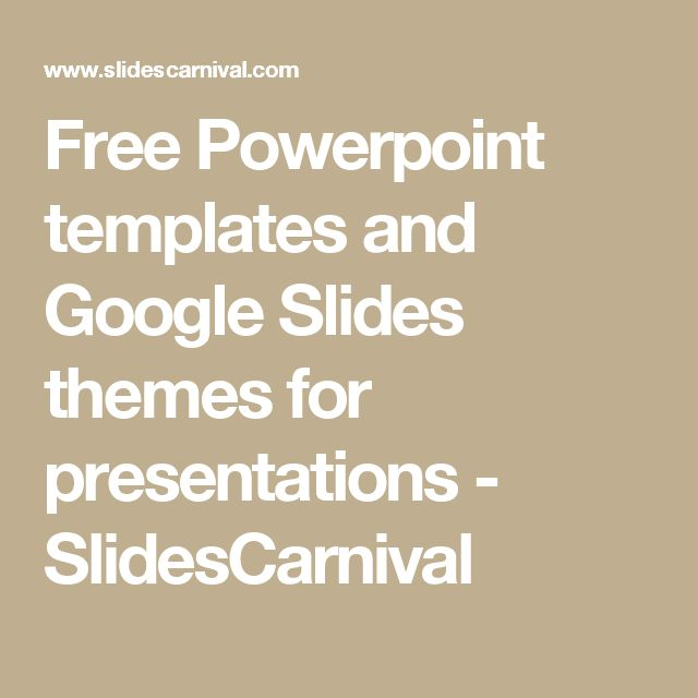 Free Powerpoint templates and Google Slides themes for presentations - SlidesCarnival
