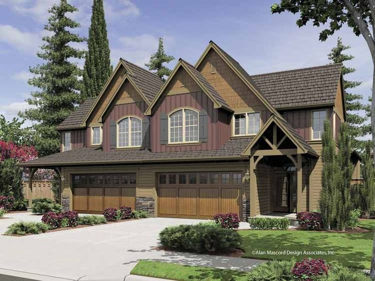 Eplans Craftsman House Plan Eye Catching Duplex 3838 Square Feet And 5