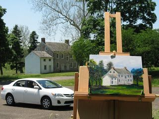 #pleinair #painting at Valley Forge