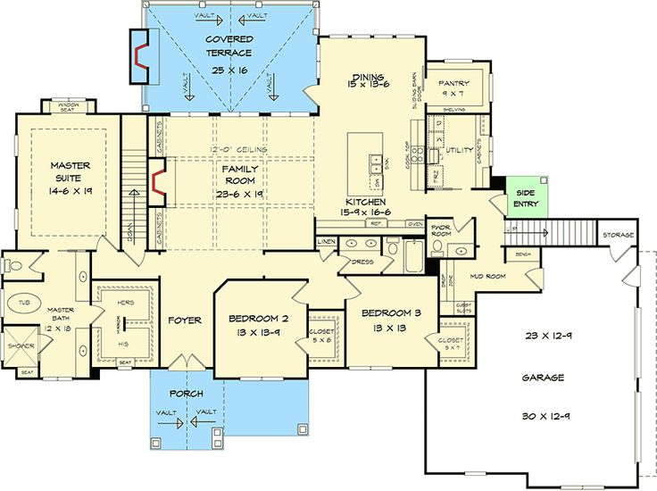 Plan 36076DK: Striking Craftsman with Option for 5 Beds