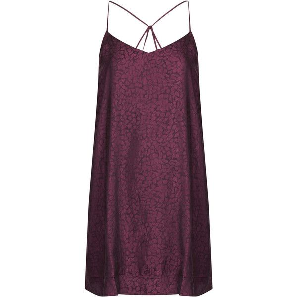 TOPSHOP Petite Animal Jacquard Swing Dress (£33) ❤ liked on Polyvore featuring dresses, vestidos, topshop, tops, mulberry, petite, strappy dress, petite dresses, petite swing dress and braided strap dress