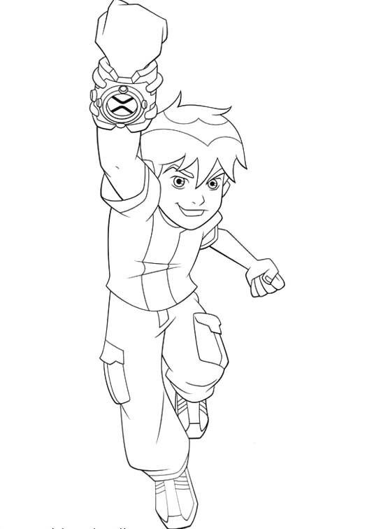 Ben 10 Will Destroy Evil Coloring Pages (With images