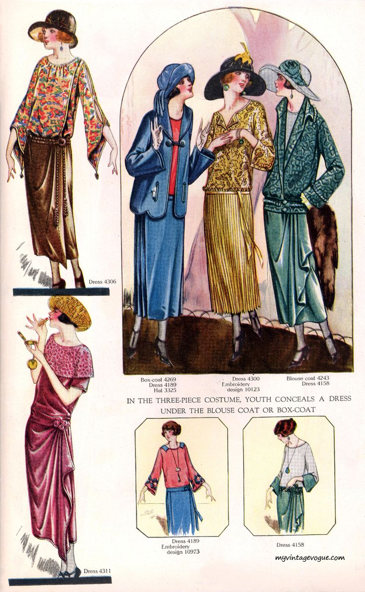 The Delineator Magazine 1923 - These gowns are the real fashions that Daisy would have worn.