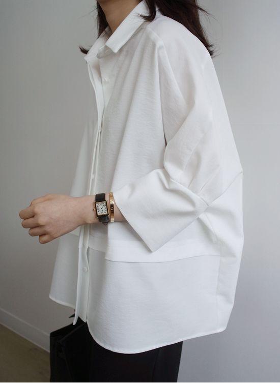 White shirt & Cartier tank
