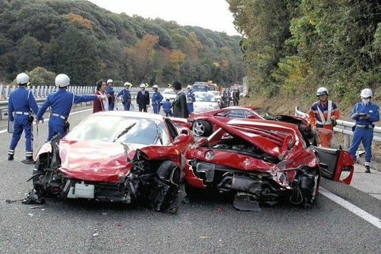 a he worlds most expensive car crash with 10 wrecked cars worth around 4 million 0 autos cars pinterest expensive cars car crash and cars