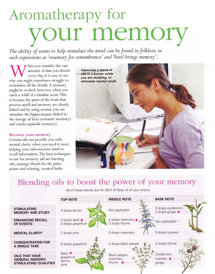 Aromatherapy for your memory